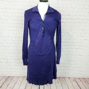 Title Nine Merino Wool Sweater Dress in Navy Blue
